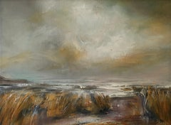 Golden Morning - Contemporary Seascape Painting by Senja Brendon