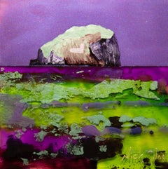 Bass Rock II - Contemporary Landscape Painting by Nick Giles