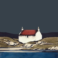 Eriskay Cottage - Signed, Limited Edition Print, Landscape by Ron Lawson
