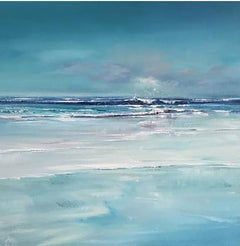 Beautiful in Blue - Contemporary Seascape Painting by Senja Brendon