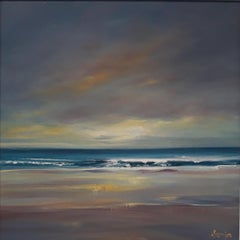 Last Light - Contemporary Seascape Painting by Senja Brendon