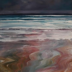 Mission Beach - Contemporary Seascape Painting by Senja Brendon