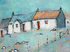 Crossbost 2 - Contemporary Landscape Painting by Helen Acklam
