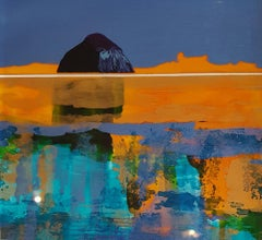 Wee Ailsa Abstract - Contemporary Landscape Painting by Nick Giles