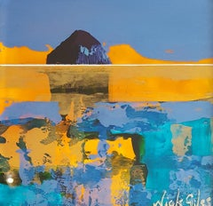 Wee Ailsa - Contemporary Landscape Painting by Nick Giles