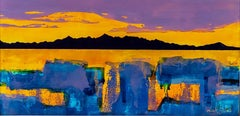 Arran Sunset - Contemporary Landscape Painting by Nick Giles