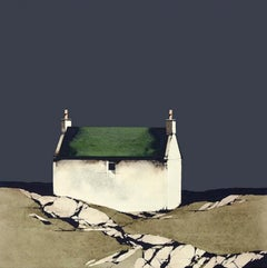 Barra Cottage - Signed, Limited Edition Print, Landscape by Ron Lawson