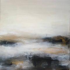 Golden Haze - Contemporary Landscape Painting by Clodagh Meiklejohn