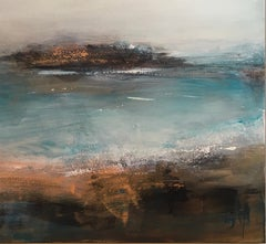 Inlet - Contemporary Landscape Painting by Clodagh Meiklejohn