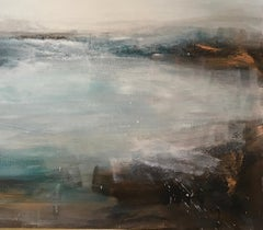 Serene - Contemporary Landscape Painting by Clodagh Meiklejohn