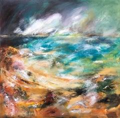 Traigh Beach - Contemporary Seascape Painting by Mark McCallum