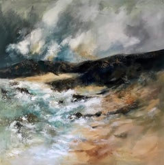 Achmelvich Beach - Contemporary seascape Painting by Mark McCallum