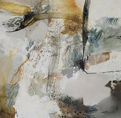 Winter Woodland - Abstract Painting by Natasha Barnes