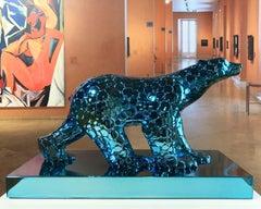 Pompon Bear as an excuse - Miguel Guía Pop Art Bronze layer Sculpture