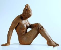 Big Act of Naked Woman - Martín Duque Impressionist Bronze layer Sculpture
