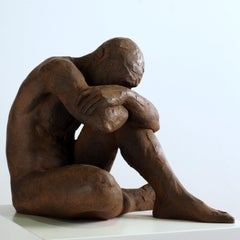 Big Act of Naked Man - Martín Duque Impressionist Bronze layer Sculpture
