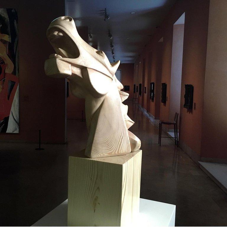 Cubist Horse of Guernica Wood – Miguel Guía Sweden pine tree Sculpture