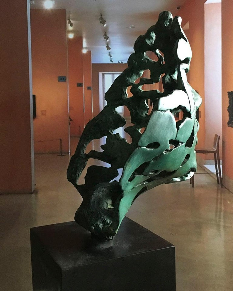 The Big Essence of Youth cast Bronze - Miguel Guía Expressionist Sculpture For Sale 5