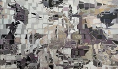 Reassembling The Cubism - Miguel Guía Cubist Acrylic Paint on Canvas