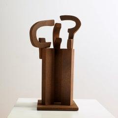 Dialogue – Miguel Guía Abstract Bronze layer Sculpture
