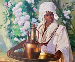 Oriental Boy - Chías Oil painting on canvas Realism