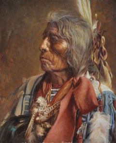 Edward S Curtis Translation - Chías Oil painting on canvas Realism