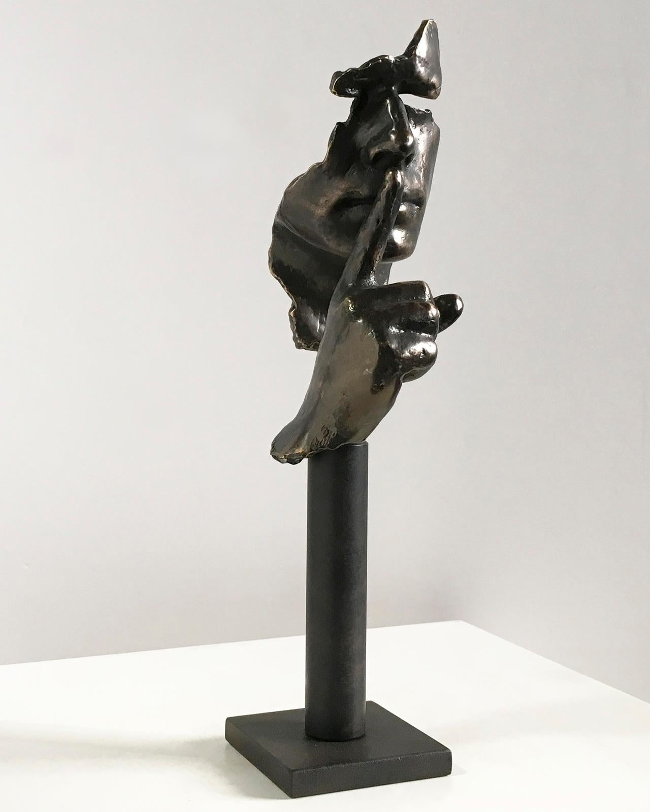 Calm and Silence small – Miguel Guía Realism Bronze layer Sculpture
