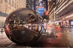 City's soul reflection NY NIGHT 2 - Miguel Guía Impresionism Oil Paint on board