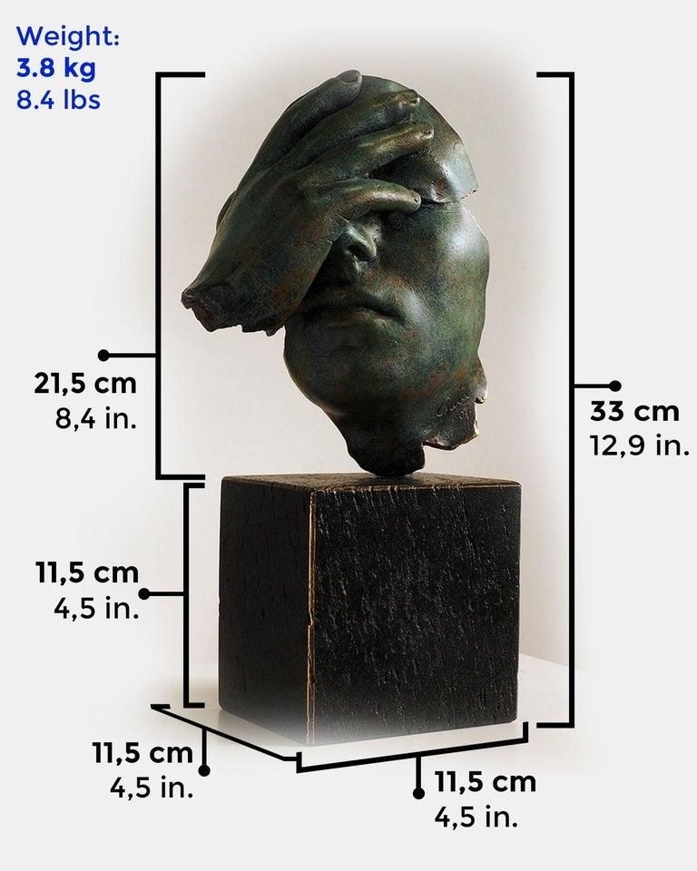 Reflexion - Miguel Guía Realism Bronze layer Sculpture 2