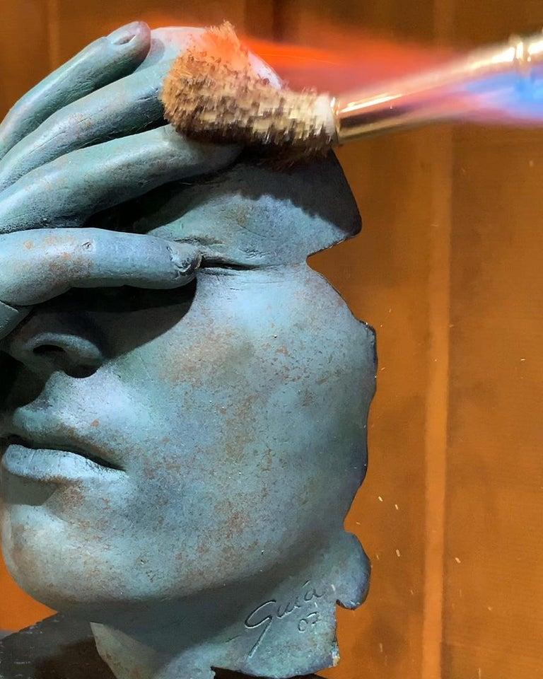 Reflexion - Miguel Guía Realism Bronze layer Sculpture 5