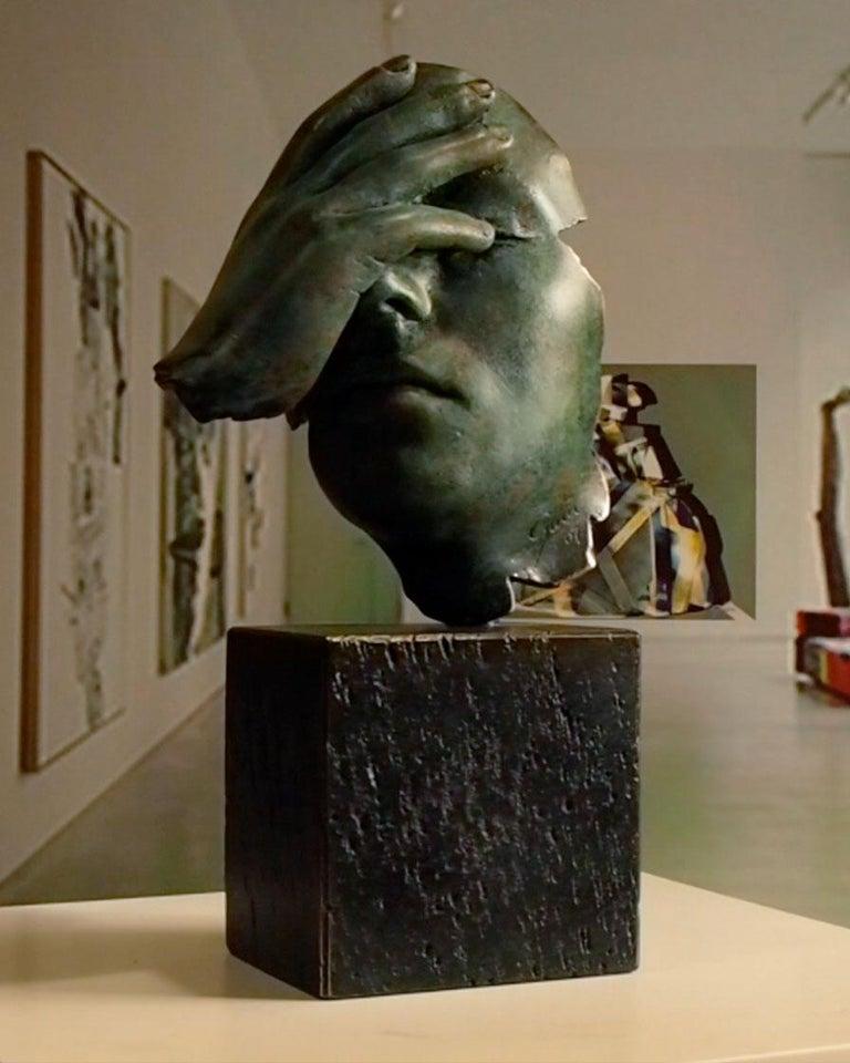 Reflexion - Miguel Guía Realism Bronze layer Sculpture 7