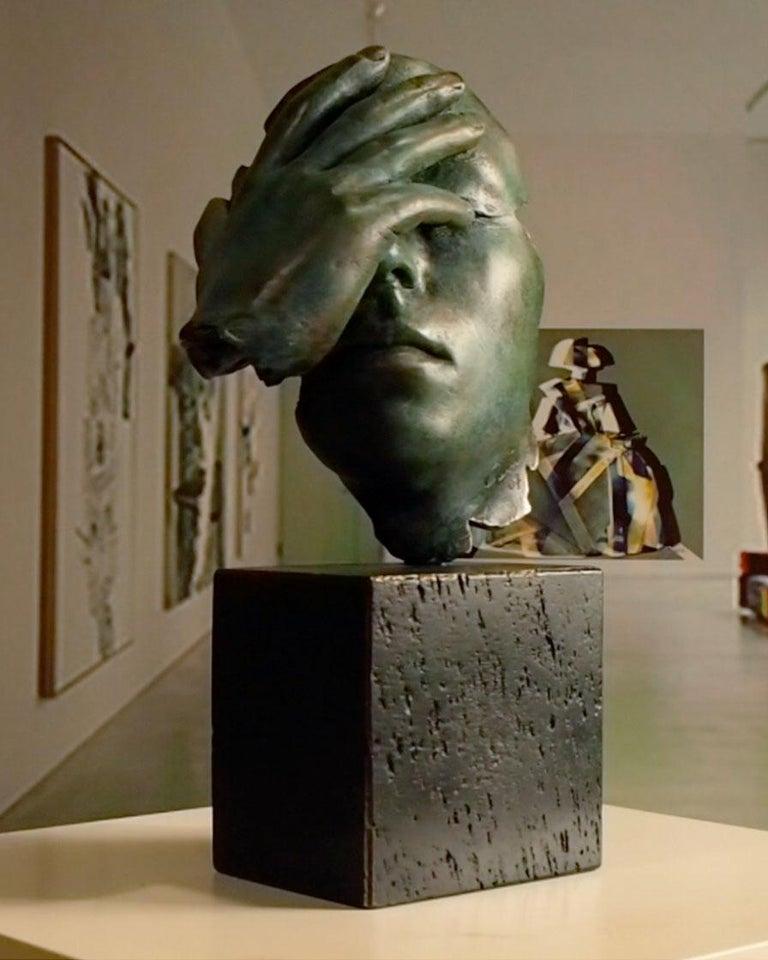 Reflexion - Miguel Guía Realism Bronze layer Sculpture 8