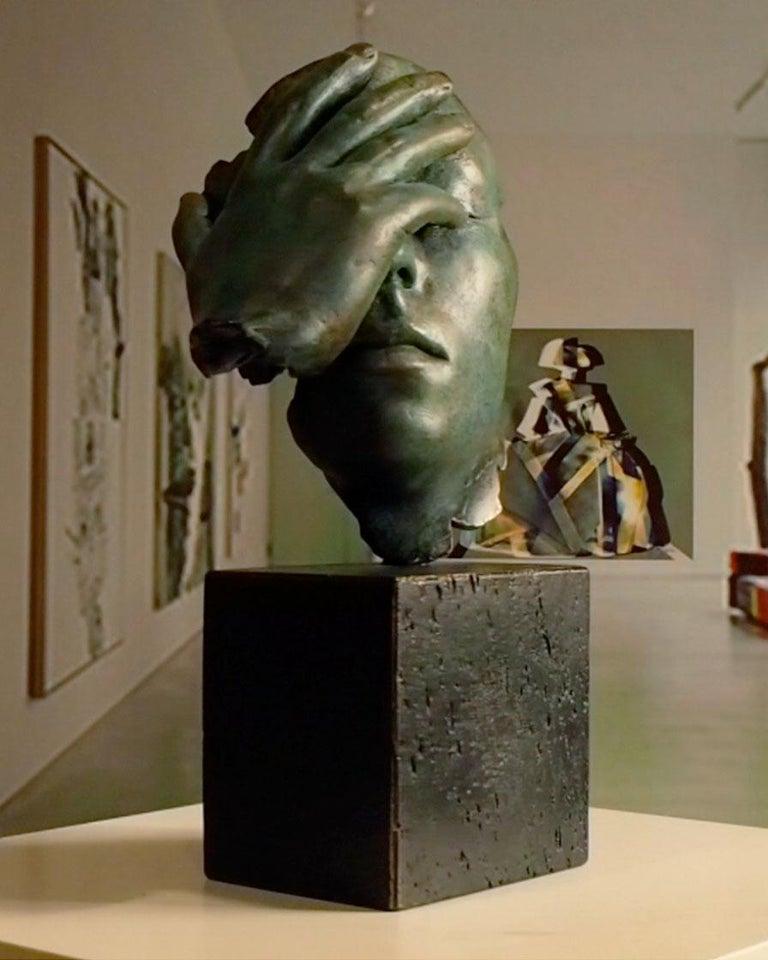 Reflexion - Miguel Guía Realism Bronze layer Sculpture 9