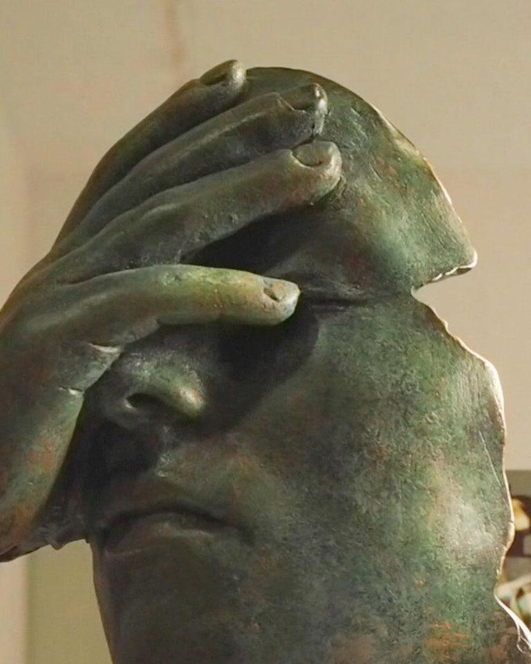 Reflexion - Miguel Guía Realism Bronze layer Sculpture 12
