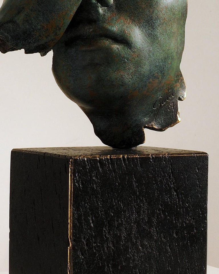 Reflexion - Miguel Guía Realism Bronze layer Sculpture 14