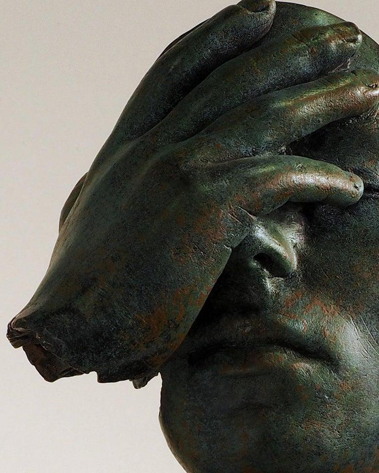 Reflexion - Miguel Guía Realism Bronze layer Sculpture 15