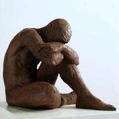 Big Act of Naked Man - Martín Duque Impressionist Bronze layer Sculpture