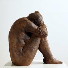 Big Act of Cluster Woman - Martín Duque Impressionist Bronze layer Sculpture