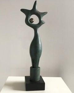 Bird and Star - Martín Duque Impressionist Bronze layer Sculpture