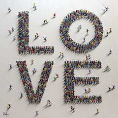 LOVE #1 - Bartus Mixed media 3D on canvas Neo-Expressionist