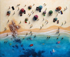 Summer Paradise #3 - Bartus Mixed media 3D on canvas Neo-Expressionist