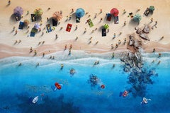 Summer Paradise #6 - Bartus Mixed media 3D on canvas Neo-Expressionist