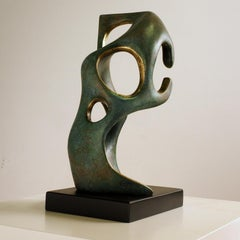 Rodin's thinker spaces - Jésus Campo Abstract Bronze layer Sculpture