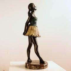 Young Ballet Dancer - Martín Duque Impressionist Bronze layer Sculpture