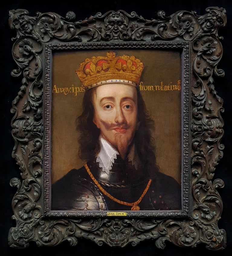 Flemish, 17th Century Portrait Painting - Portrait of Charles I (1600-1649) King of England, Scotland, and Ireland