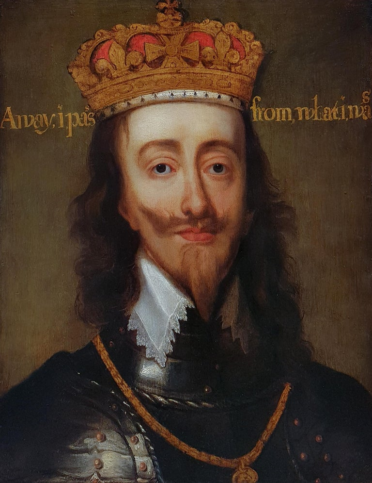 Portrait of Charles I (1600-1649) King of England, Scotland, and Ireland - Painting by Flemish, 17th Century