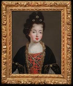 Portrait of Louise Françoise, Duchess of Bourbon, Fine Carved Period Frame