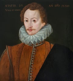Portrait of George Peele (c.1557-c.1596), Very early Elizabethan panel