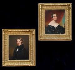 A Pair - Portrait of a Gentleman & Portrait of a Lady, circa 1836