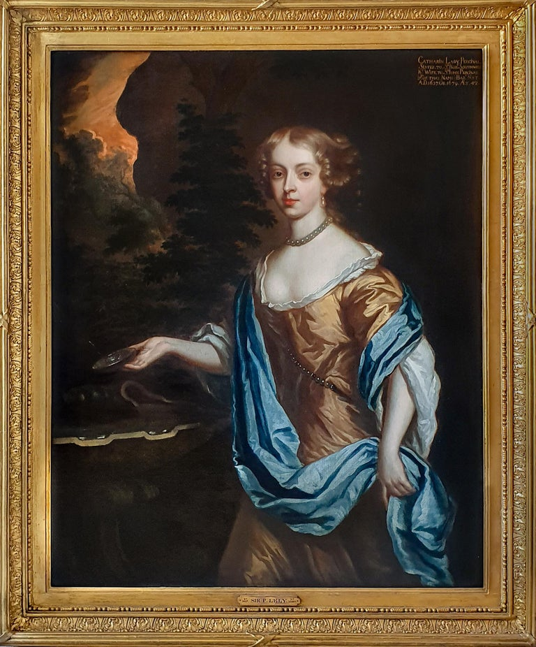 Studio of Sir Peter Lely Portrait Painting - Portrait of Catherine, Lady Perceval (1637-1679) circa 1661